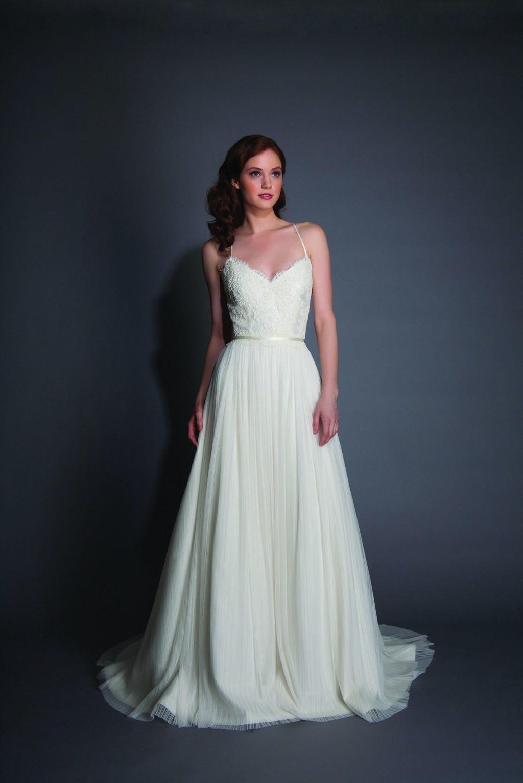 Wedding Dress With Spaghetti Straps  Spaghetti Strap Wedding Dresses New Spaghetti Strap