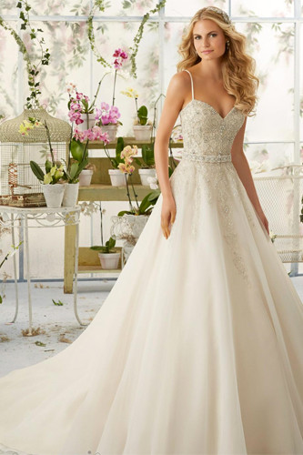 Wedding Dress With Spaghetti Straps  Spaghetti Straps Wedding Dress Trends