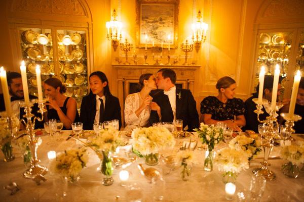 Wedding Reception Dinners  Elegant Estate Wedding from Samuel Lippke Studios