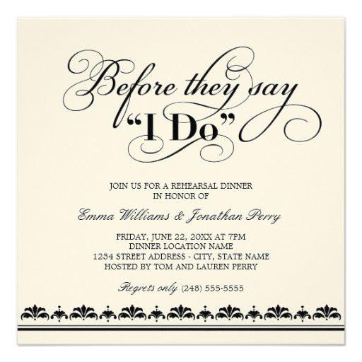 Wedding Rehearsal Dinner Invitations  Fun Wedding Rehearsal Dinner Invitation Wording