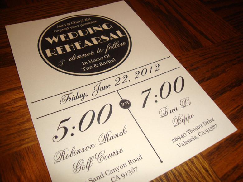 Wedding Rehearsal Dinner Invitations  Custom Printable Vintage Wedding Rehearsal Dinner Invitation