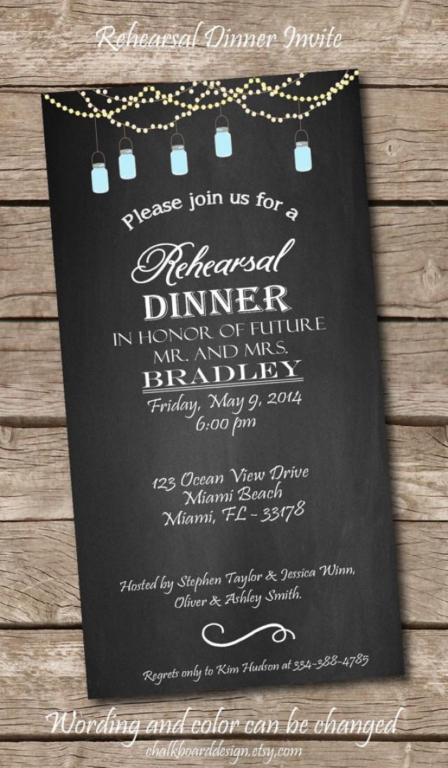 Wedding Rehearsal Dinner Invitations  Printable Rehearsal Dinner Invite Printables Custom