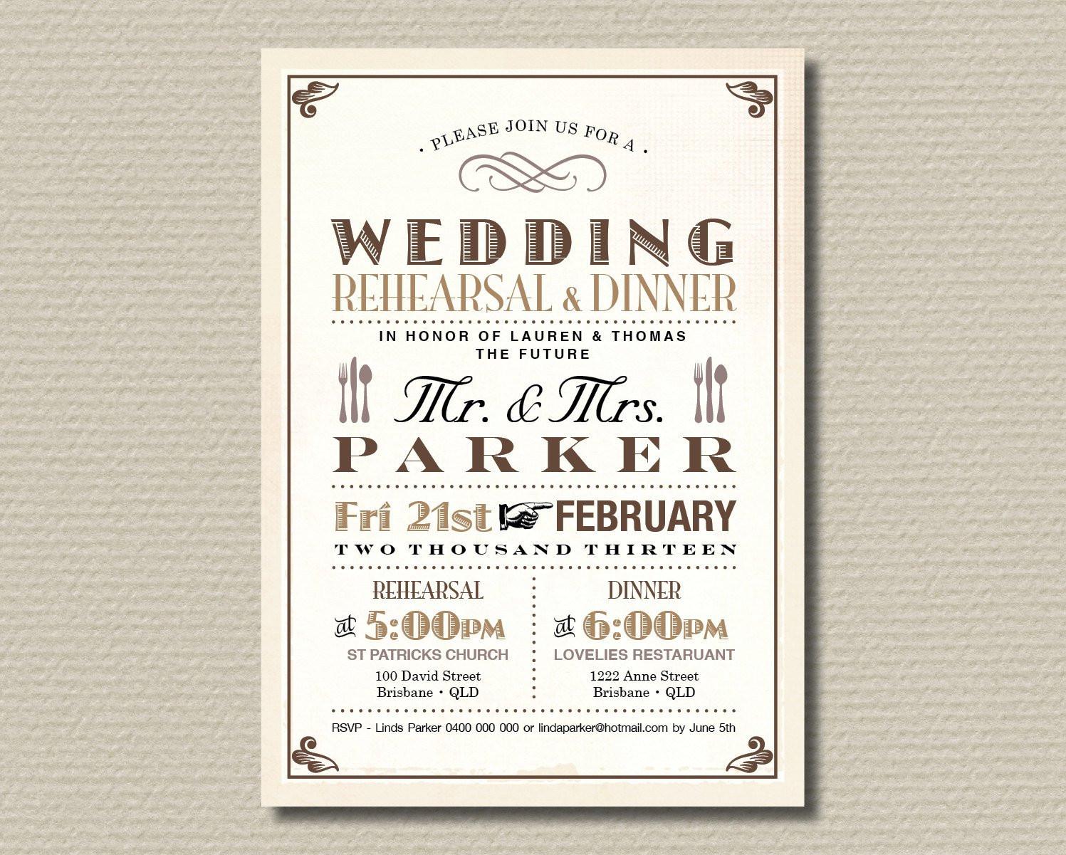 Wedding Rehearsal Dinner Invitations  Rehearsal Dinner Invitations Ideas