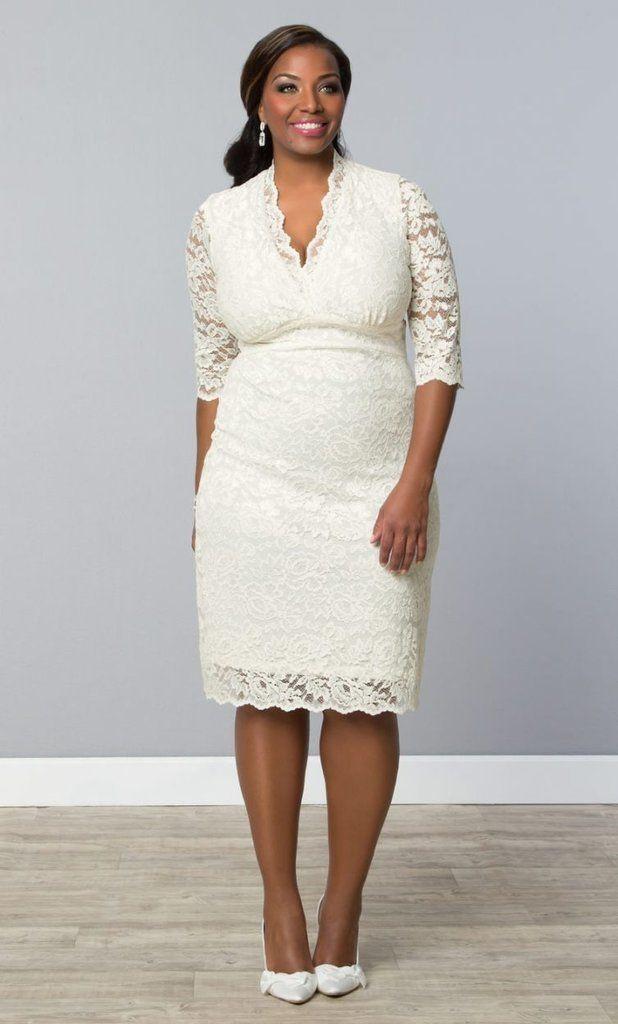Wedding Rehersal Dinner Dresses  10 Best images about Short Plus Size Wedding Dress on