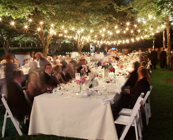 Wedding Rehersal Dinners  outdoor wedding lighting