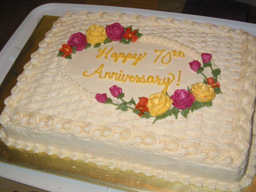 Wedding Sheet Cake Ideas  Anniversary Sheet Cake CakeCentral