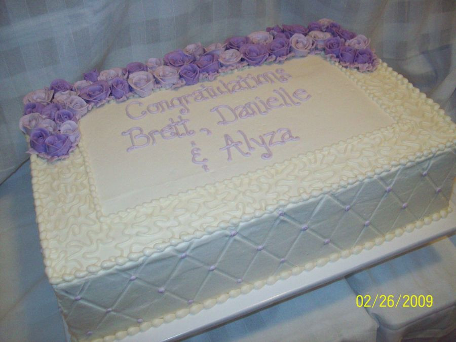 Wedding Sheet Cake Ideas  Wedding Sheet Cake CakeCentral