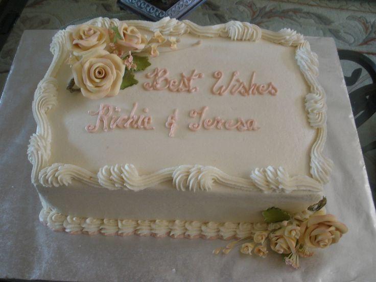 Wedding Sheet Cake Ideas  sheet cake for a small family wedding dinner Last minute