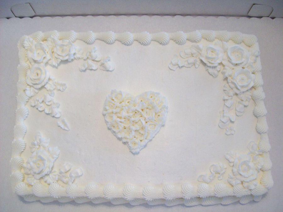 Wedding Sheet Cake  Romance Wedding Sheet Cake CakeCentral