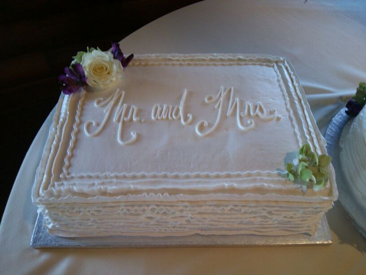 Wedding Sheet Cake  Cut down your wedding costs by ordering a sheet cake