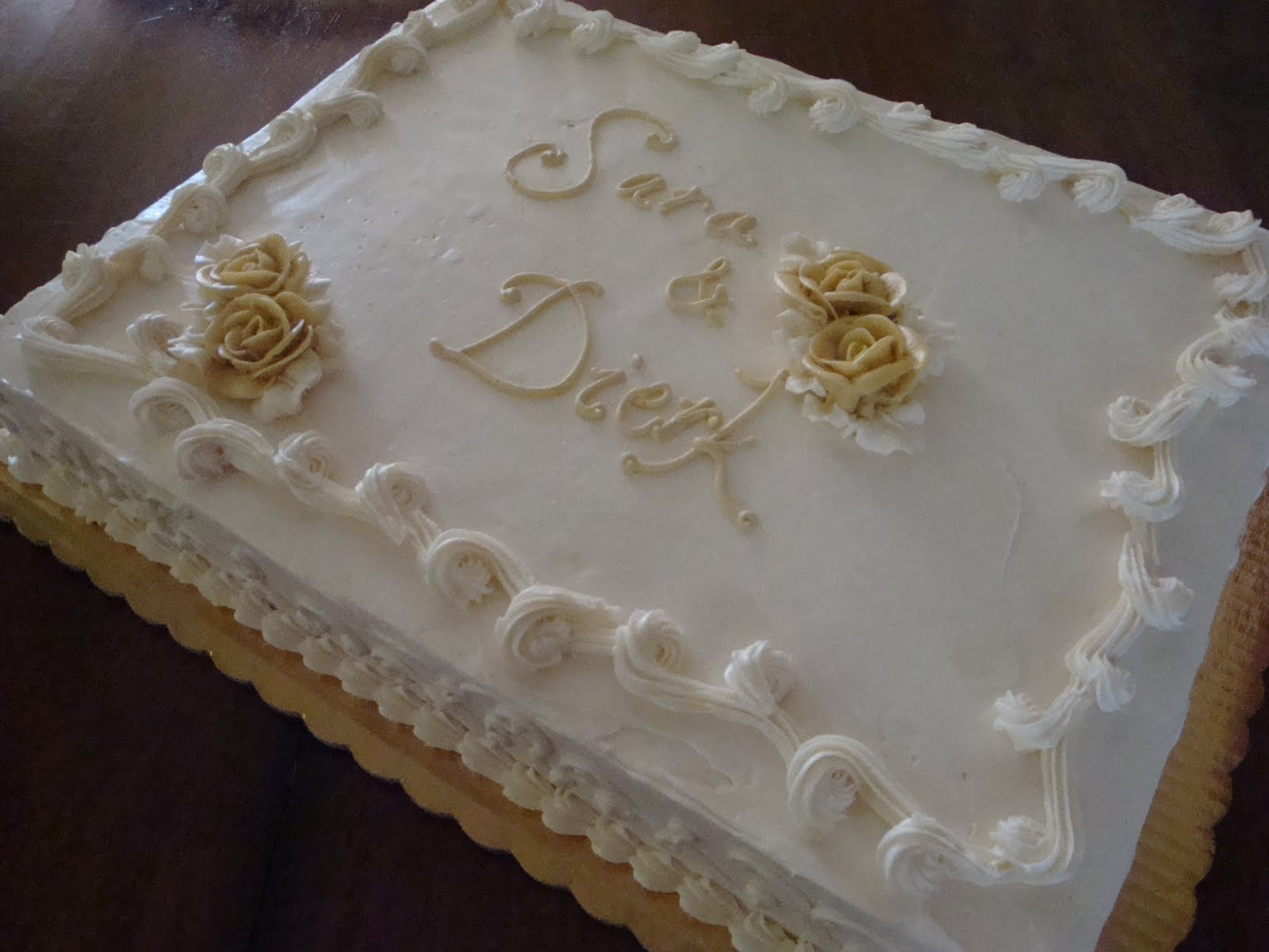 Wedding Sheet Cake  The Jaded Spoon Sara s Wedding Cakes