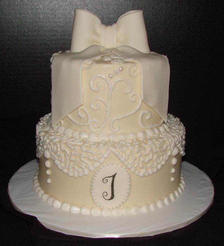 Wedding Shower Cakes Images  Lace Bridal Shower Cake