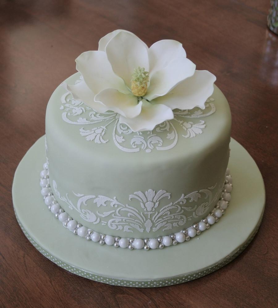 Wedding Shower Cakes Images  Magnolia Bridal Shower Cake CakeCentral