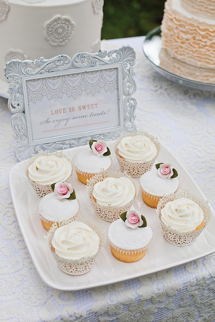 Wedding Shower Cup Cakes  Bridal Shower styling ideas Modern Wedding