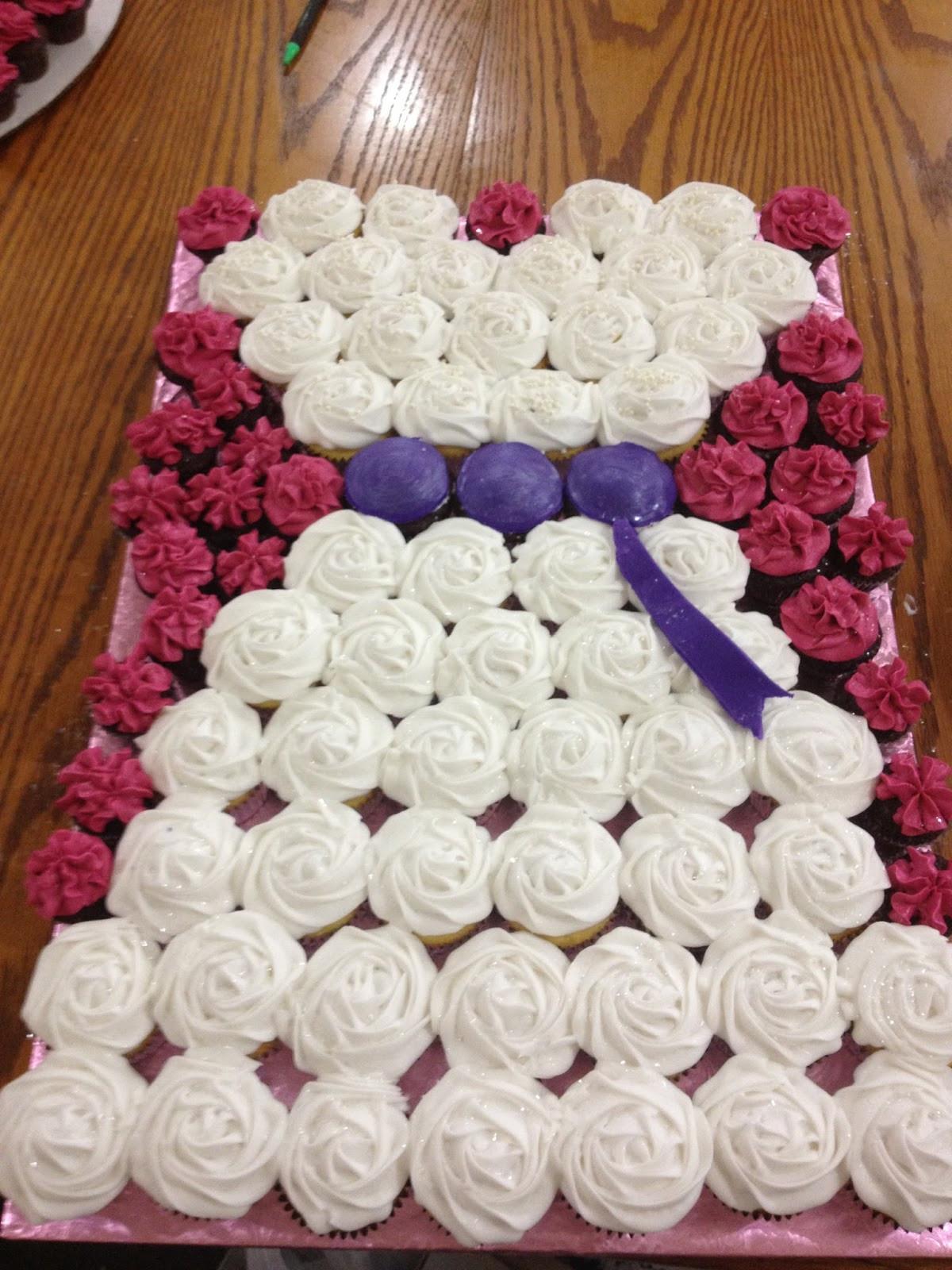 Wedding Shower Cupcakes  Life and Other Shenanigans Bridal Shower Cupcake Arrangement