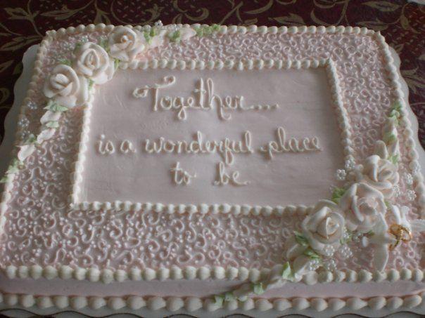 Wedding Shower Sheet Cake  Bridal shower cake CAKES Pinterest