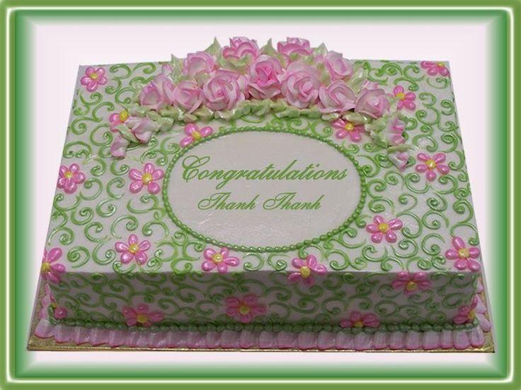Wedding Shower Sheet Cake  17 Best images about Wedding Cakes on Pinterest