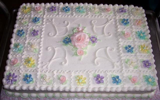 Wedding Shower Sheet Cake  Bridal shower