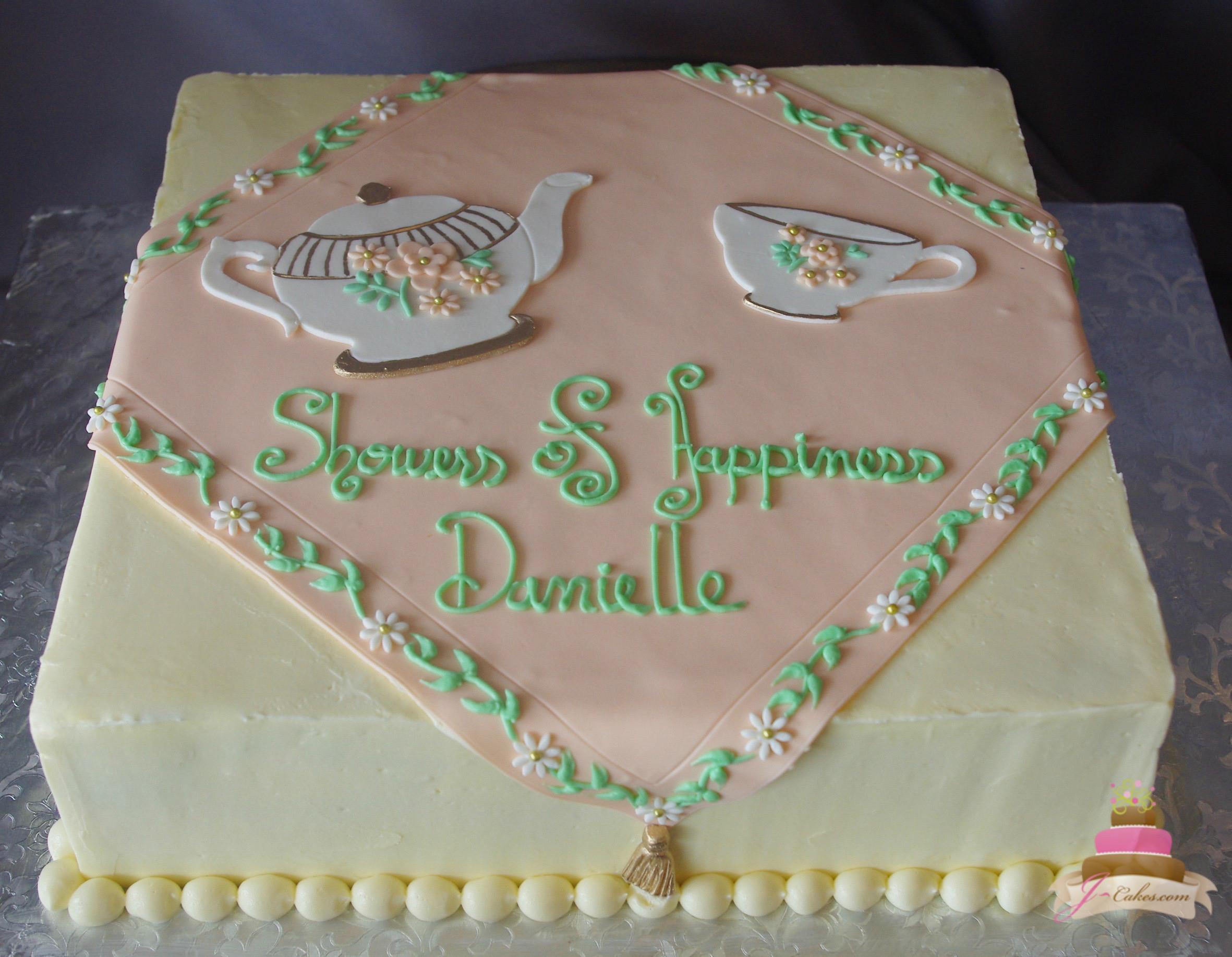 Wedding Shower Sheet Cake  Bridal Showers JCakes