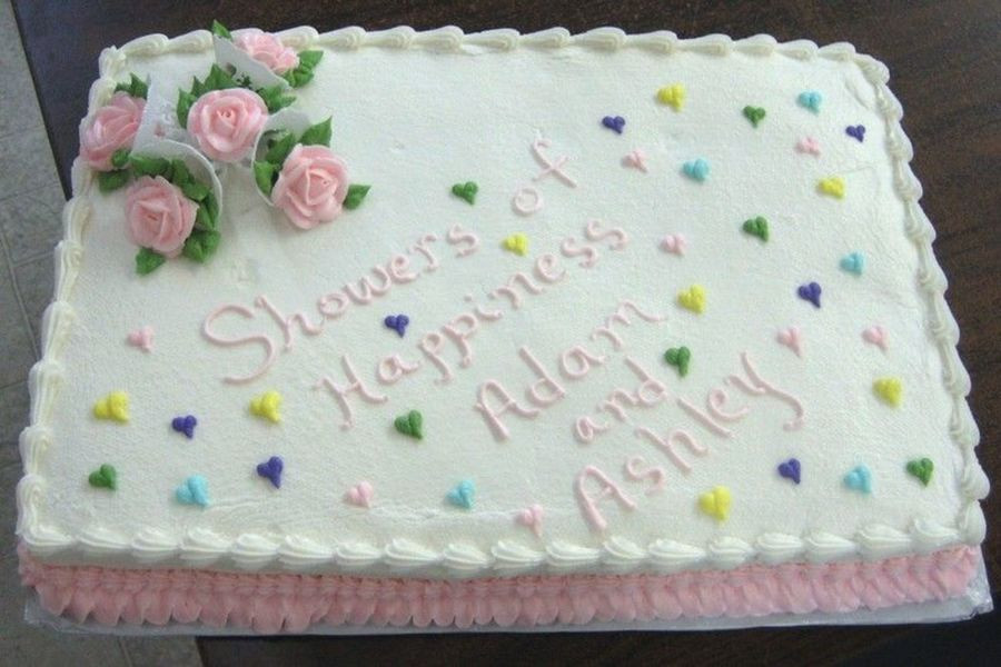 Wedding Shower Sheet Cake  Wedding Shower Sheet Cake CakeCentral