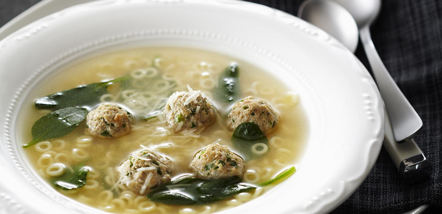 Wedding Soup With Chicken  Recipes Italian Wedding Soup with Chicken Meatballs