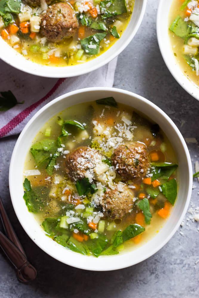 Wedding Soup With Chicken  Easy Italian Wedding Soup Little Broken