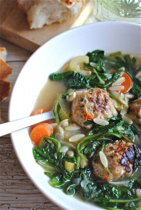 Wedding Soup With Chicken  Italian Wedding Soup With Chicken Meatballs Recipe — Dishmaps