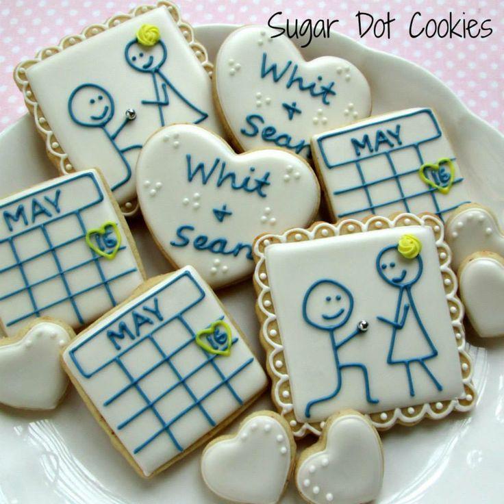 Wedding Sugar Cookies Decorating Ideas  160 best Wedding Anniversary Bridal Shower Decorated
