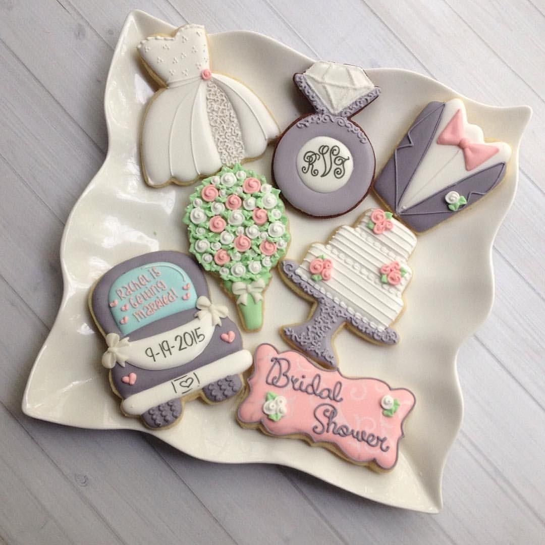 Wedding Sugar Cookies Decorating Ideas  Bridal Shower Cookies madriscookiekitchen