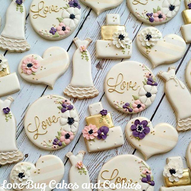 Wedding Sugar Cookies Decorating Ideas  Best 25 Decorated wedding cookies ideas on Pinterest