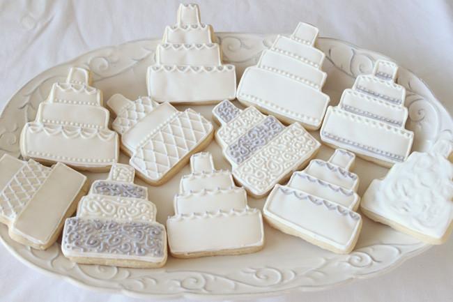 Wedding Sugar Cookies Decorating Ideas  Wedding Cake Cookies