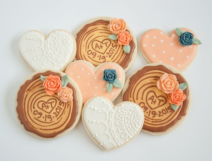 Wedding Sugar Cookies Decorating Ideas  20 best images about Cookies Woodland on Pinterest