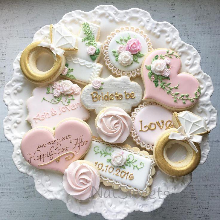 Wedding Sugar Cookies Decorating Ideas  917 best Wedding Cookies images on Pinterest