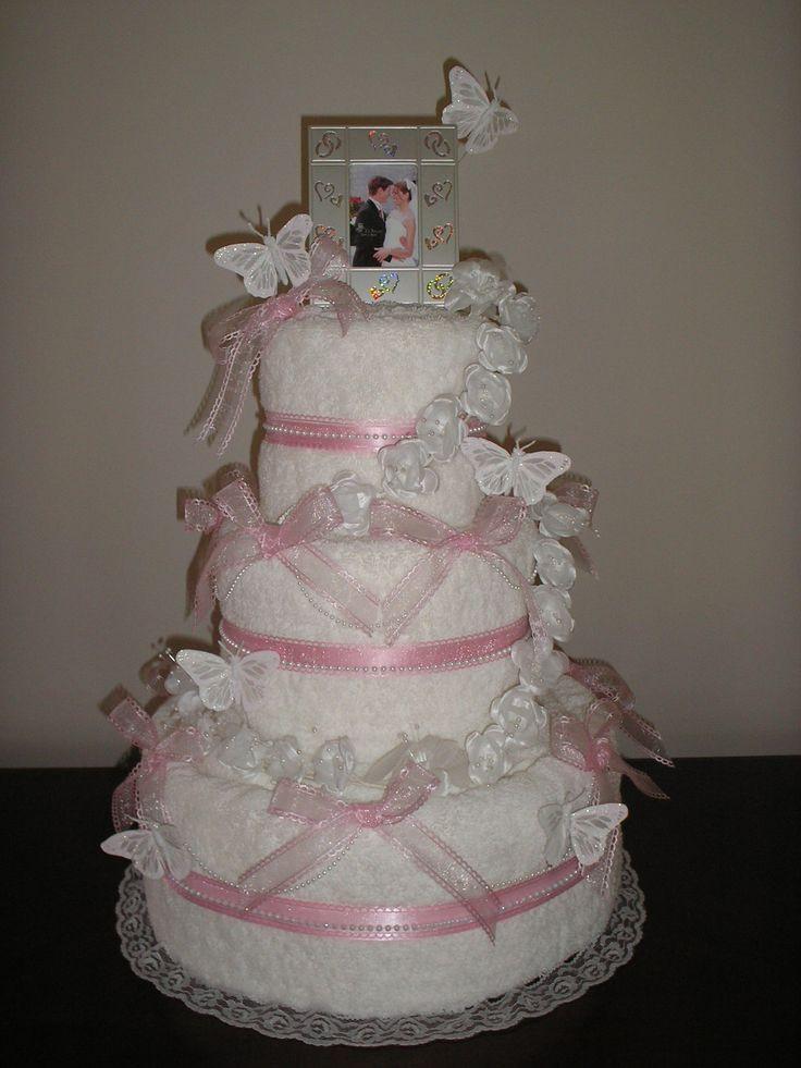 Wedding Towel Cakes Ideas  101 best Wedding Towel Cakes images on Pinterest