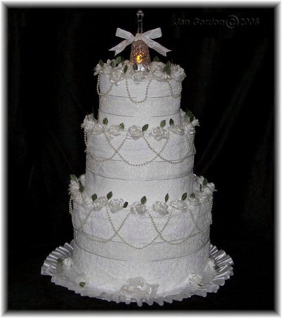 Wedding Towel Cakes Ideas  98 best images about Wedding Towel Cakes on Pinterest