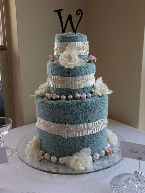 Wedding Towel Cakes Ideas  How To Make A Towel Cake For Bridal Showers