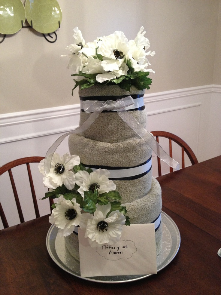 Wedding Towel Cakes Ideas  17 Best images about Towel Cake Gift Ideas on Pinterest