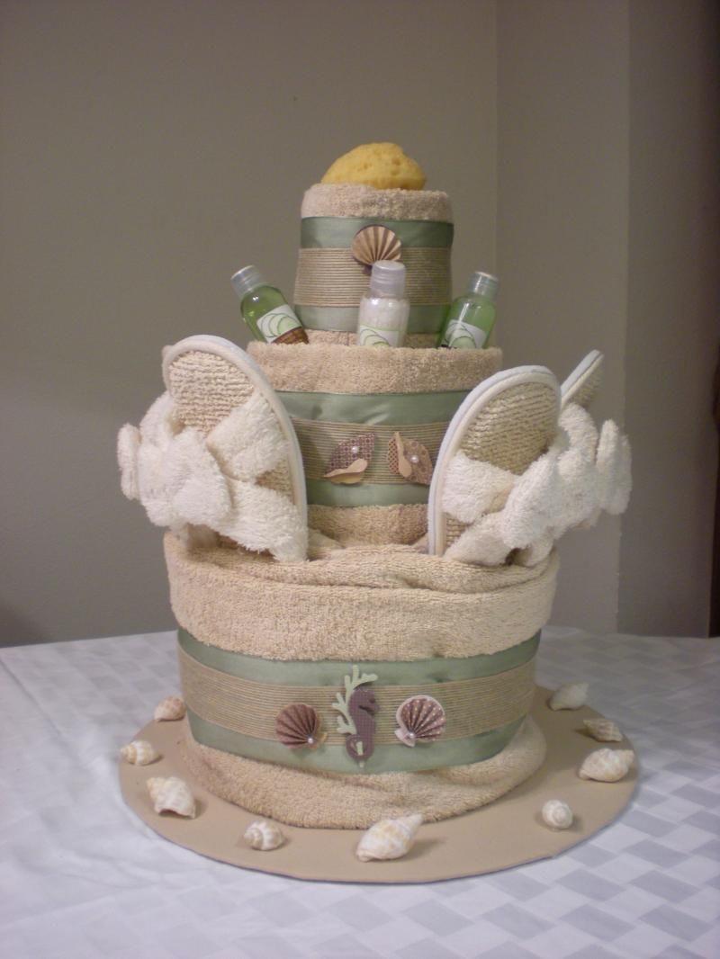 Wedding Towel Cakes Ideas  Beach Towel Cake Ideas
