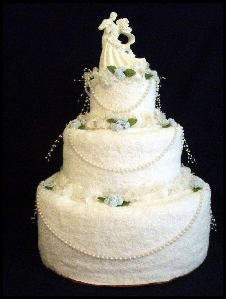 Wedding Towel Cakes Ideas  Bridal Towel Cake
