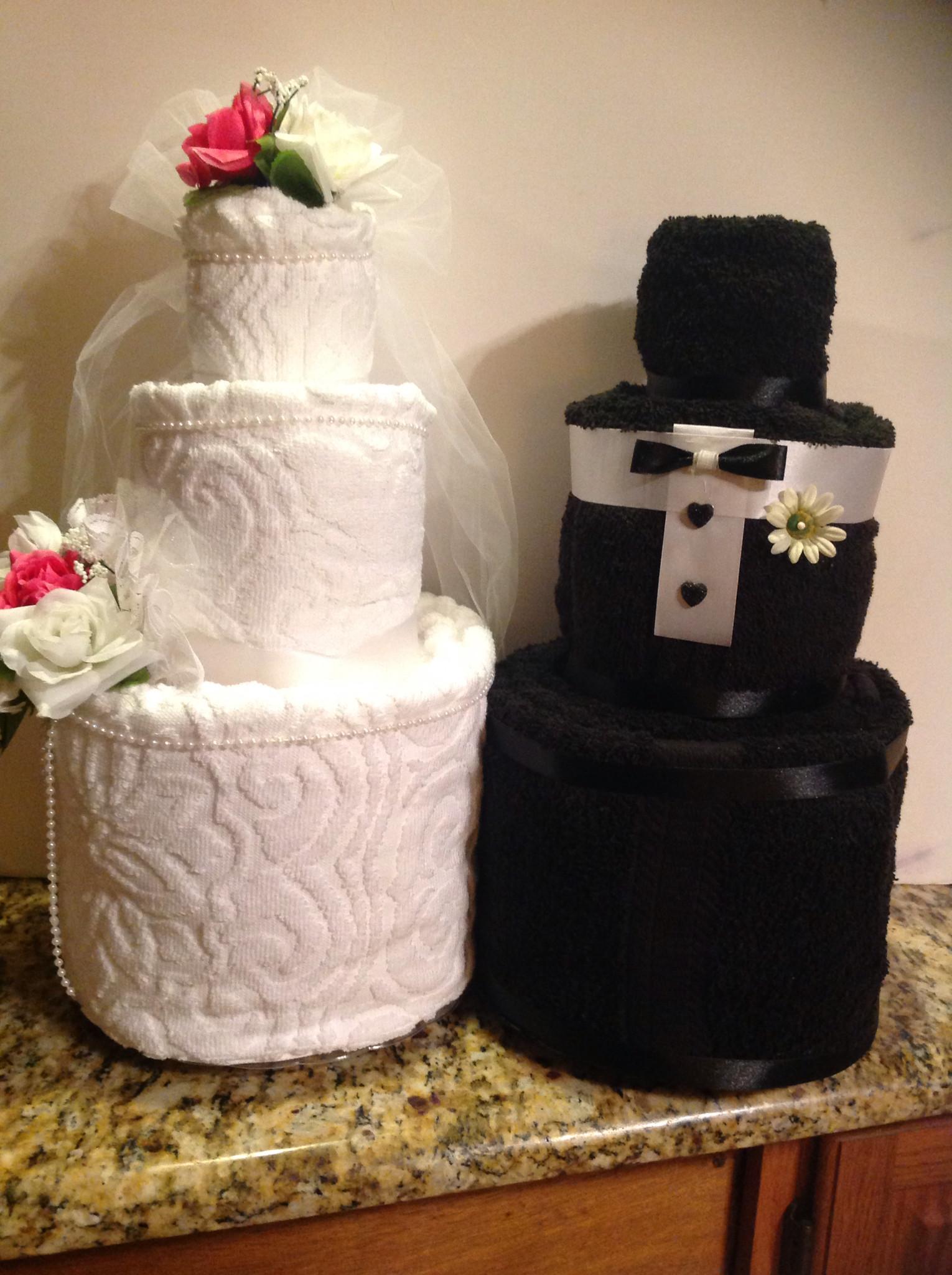 Wedding Towel Cakes Ideas  Wedding Shower towel Cake
