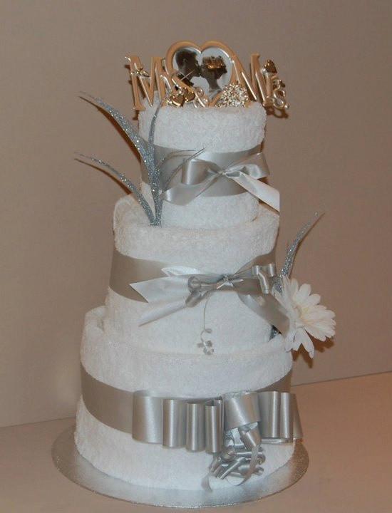 Wedding Towel Cakes Ideas  Wedding Towel Cake Diaper Centerpieces