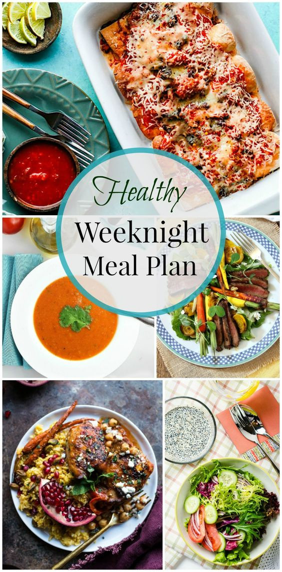 Weeknight Healthy Dinners  Healthy weeknight meals Healthy and Meals on Pinterest