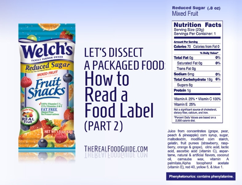 Welch'S Fruit Snacks Healthy  Welch s Fruit Snacks Food Label
