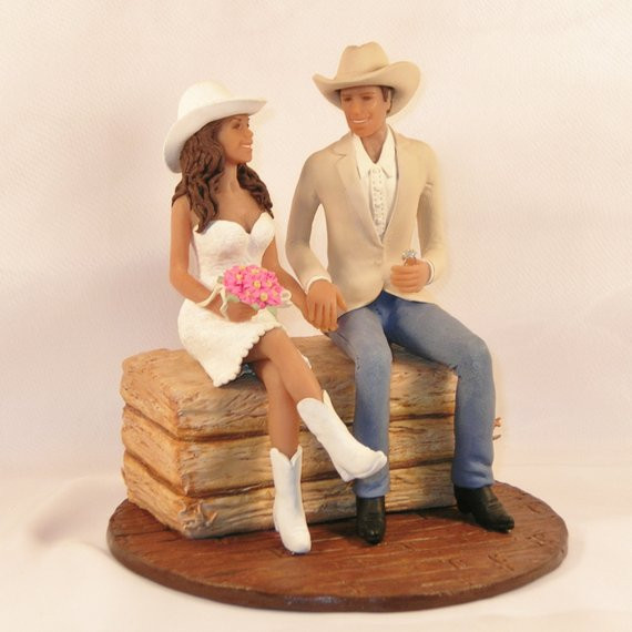 Western Cake Toppers For Wedding Cakes  Items similar to Country Western Wedding Cake Topper with