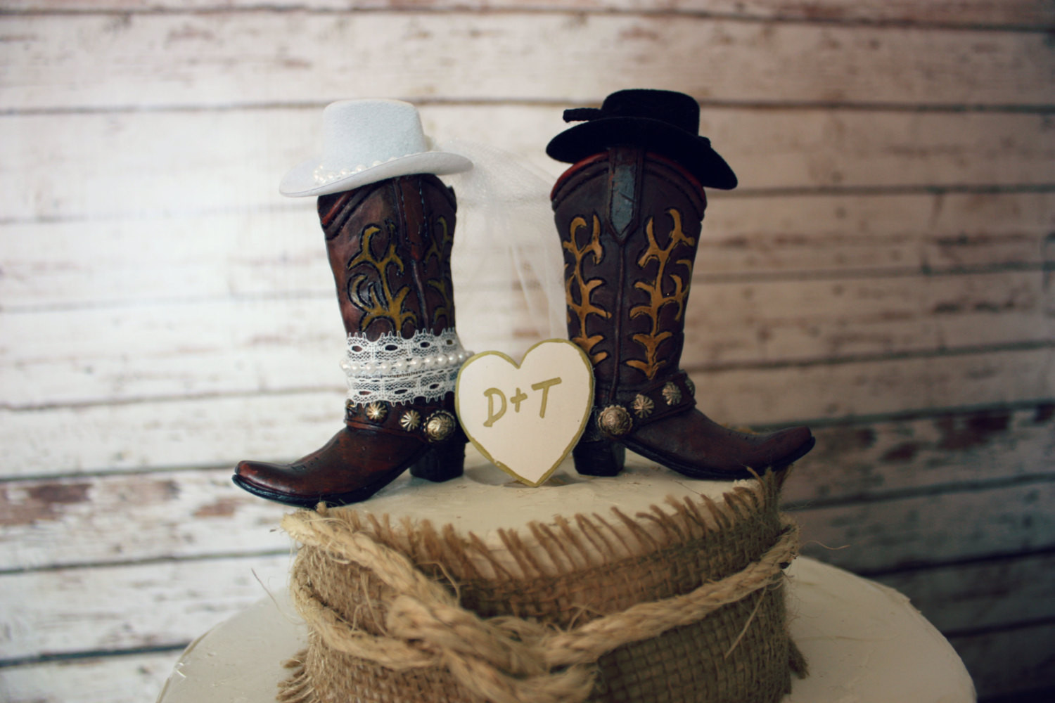 Western Cake Toppers For Wedding Cakes  Western cowboy boots wedding cake topper western