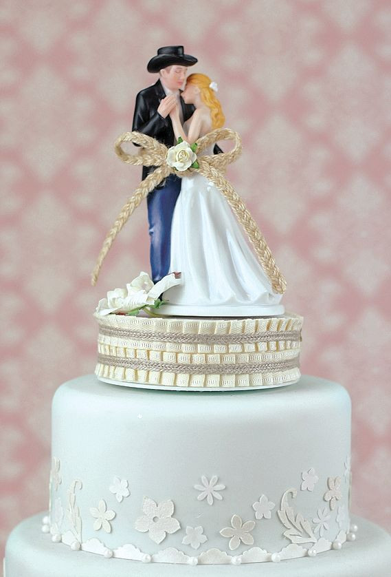Western Cake Toppers For Wedding Cakes  Lasso of Love Western Wedding Cake Topper