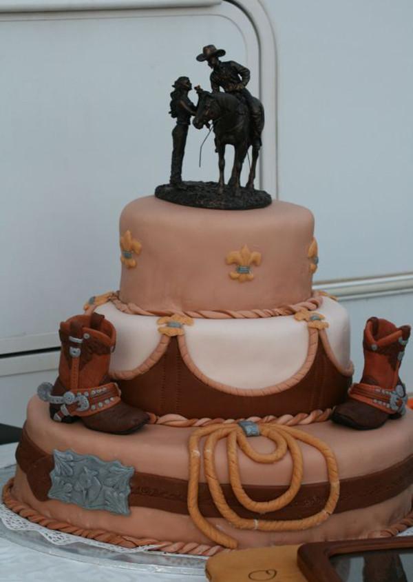 Western Theme Wedding Cakes  Ideas of the Western Themed Wedding Cakes