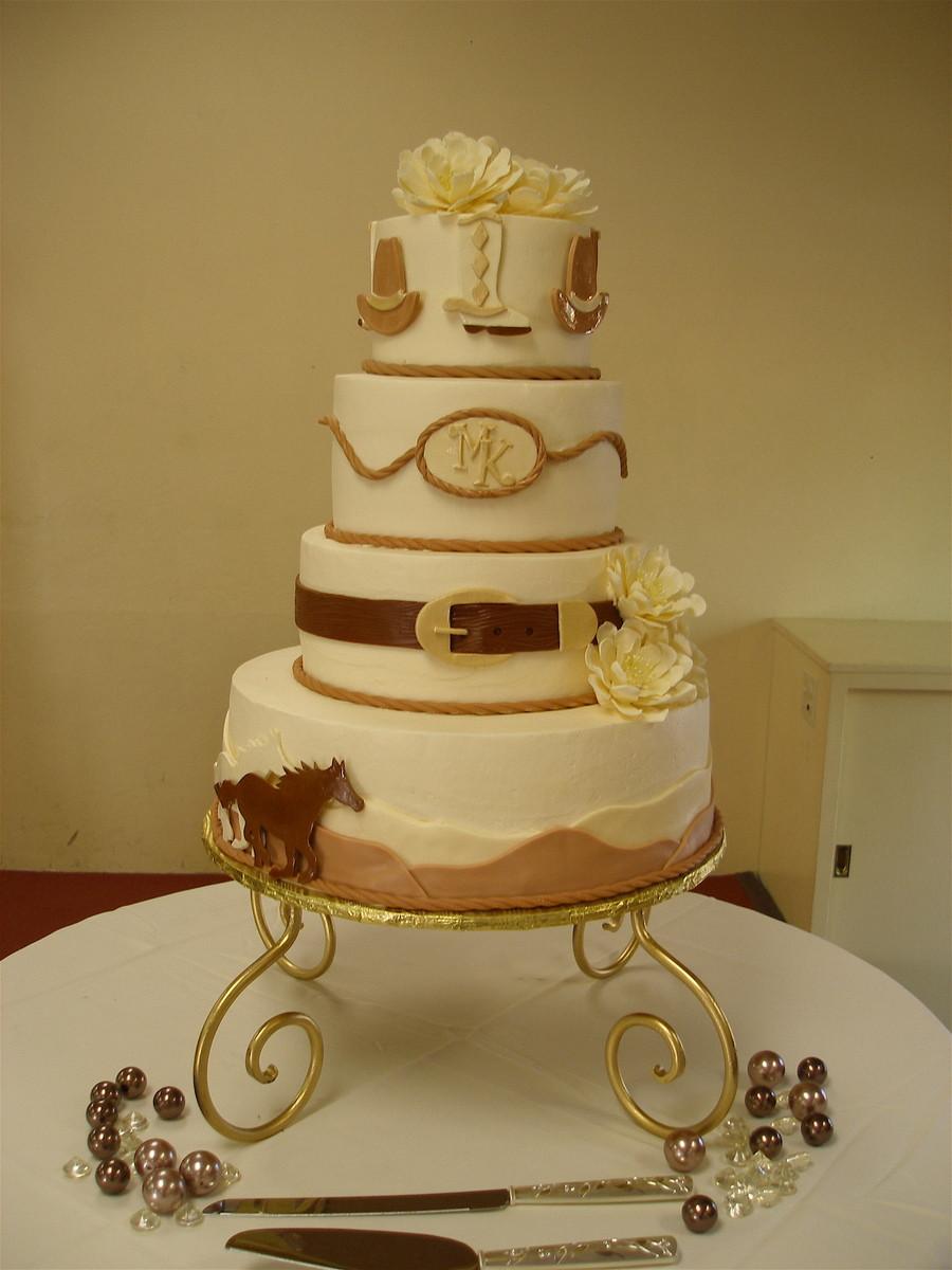Western Themed Wedding Cakes  Western Theme Wedding Cake CakeCentral