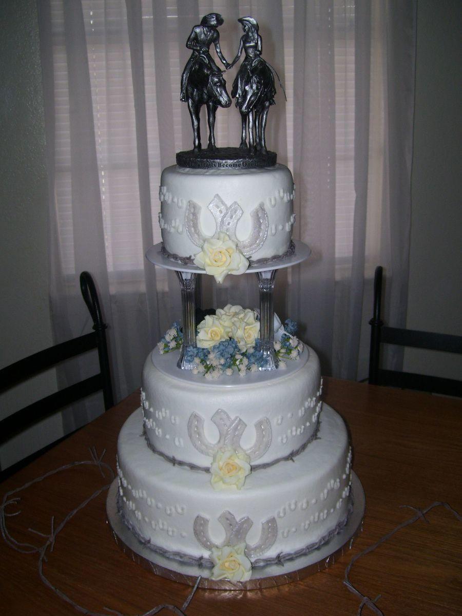 Western Themed Wedding Cakes  Cowboy Wedding Cake CakeCentral