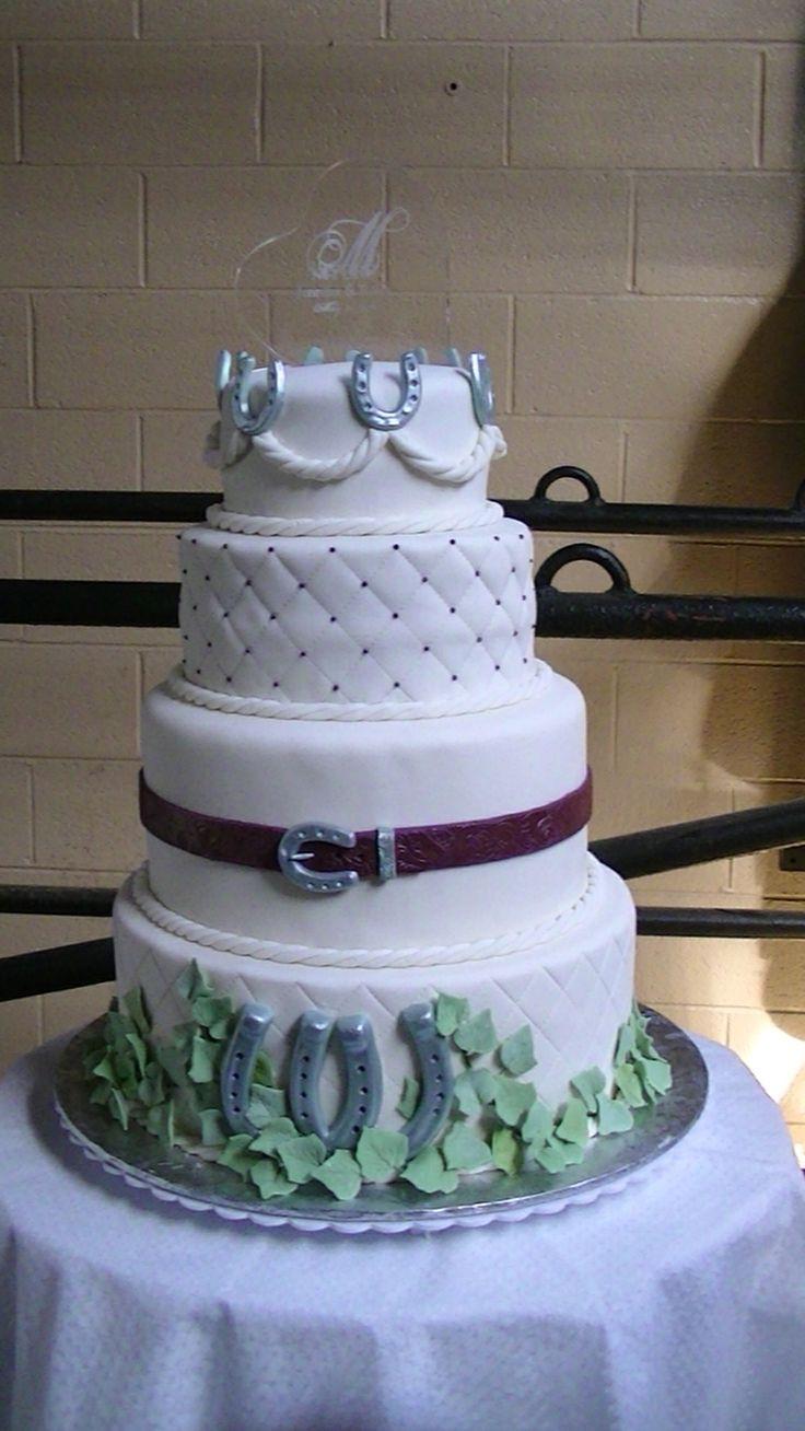 Western Wedding Cakes  The 100 best images about Western Horseshoes Wedding Theme
